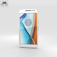 Motorola Moto G4 White 3D Model