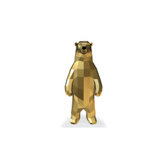 Low Poly Bear 3D print model 3D Model