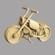 Wooden toy motorbike 3D Model