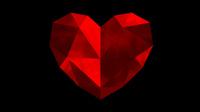 Lowpoly heart 3D print model 3D Model
