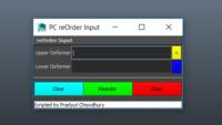 PC reOrder input 1.0.0 for Maya (maya script)