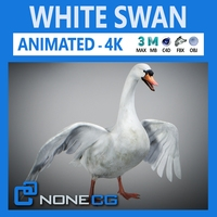 Animated Swan 3D Model