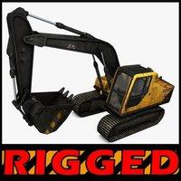 Excavator Rigged 3D Model