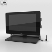 Wacom Cintiq 27QHD Touch 3D Model