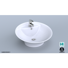 Standalone Bathroom Sink 3D Model