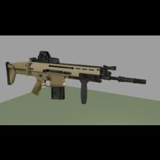 Pack 9 Assault Rifle 3D Model