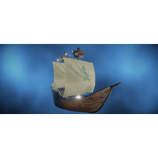 Pirate Ship Hand-Painted 3D Model