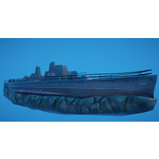 Battleship Shipwreck 3D Model