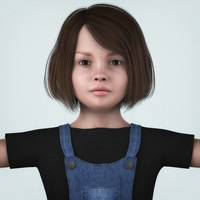 Beautiful Little Girl 3D Model