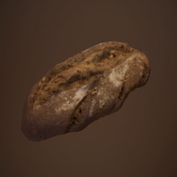 Tasty Bread 01 3D Model