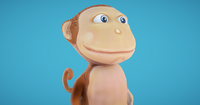 Monkey Hand-Painted 3D Model