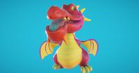 Baby Dragon 3D Model
