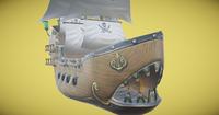 Whale Ship 3D Model