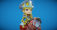 Toon Knight Animated 3D Model