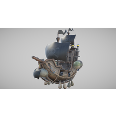 Flying Pirate Ship 3D Model