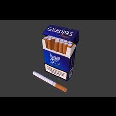 Cigarette Box Scene 3D Model