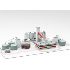 Industrial plant 3D Model