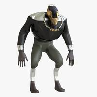 Mutant character 3D Model