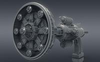 3d Ray Gun Blaster 3D Model