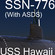 US Navy SSN-776 USS Hawaii Attack Submarine with ASDS 3D Model