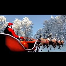 Santa Claus,reindeer . 3D Model