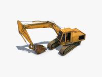 Excavator Low Poly 3D Model