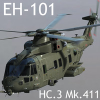 RAF EHI EH-101 Merlin HC.3 Mk.411 3D Model