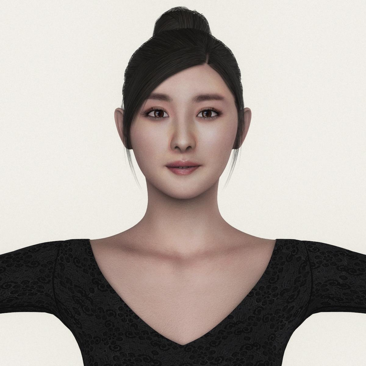 3D Asian Girl realistic beautiful asian girl 3d model