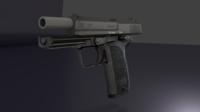 USP Pistol 3D Model