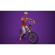 BMX RIDER Rigged with bmx and animation 3D Model