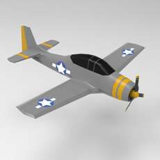 WW2 Airplane 3D Model