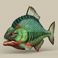 Game Ready Fantasy Fish 3D Model