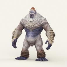 Game Ready Fantasy Yeti 3D Model