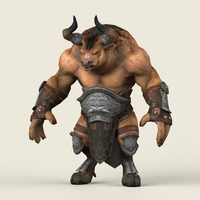 Game Ready Warrior Bull 3D Model