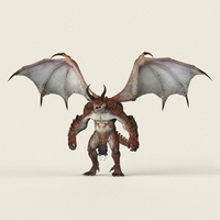 Game Ready Dragon Monster 3D Model