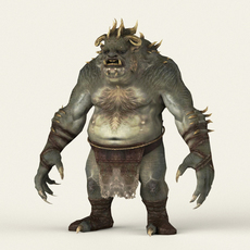 Game Ready Fantasy Beast 3D Model