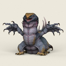 Game Ready Fantasy Monster 3D Model