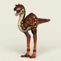 Game Ready Fantasy Velociraptor 3D Model