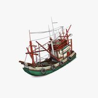 Thai Fishing boat 3D Model