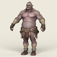 Game Ready Orc Character 3D Model
