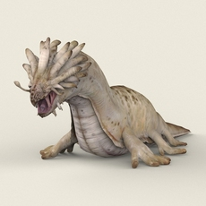 Game Ready Sea Monster 3D Model