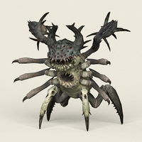 Game Ready Monster Spider 3D Model