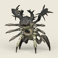 Game Ready Monster Spider 3D Model