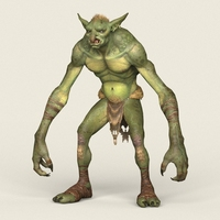 Game Ready Goblin 3D Model