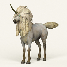 Game Ready Unicorn 3D Model