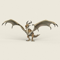 Game Ready Warrior Dragon 3D Model