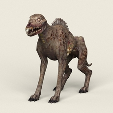Game Ready Ghost Wolf 3D Model