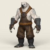 Game Ready Warrior Bear 3D Model