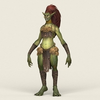 Game Ready Female Goblin 3D Model
