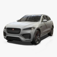 Jaguar F-Pace Low Poly 3D Model